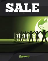 Global: World Unity Sale Poster Template #04151