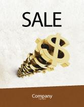 Financial/Accounting: Modèle d'Affiche de pile de dollar #04160