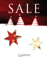 Holiday/Special Occasion: Fir Tree Theme Sale Poster Template #04165