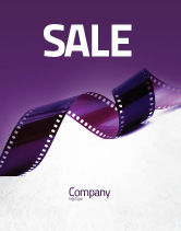 Careers/Industry: Film Strip In Purple Color Sale Poster Template #04168