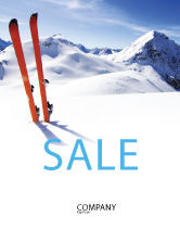 Sports: Skis Sale Poster Template #04169
