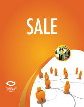 Careers/Industry: Social Network Sale Poster Template #04180