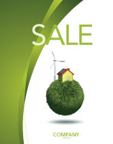 Nature & Environment: Green Planetoid Sale Poster Template #04184