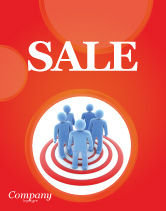 Consulting: Target Audience Sale Poster Template #04187