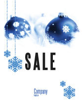 Holiday/Special Occasion: Christmas Decoration Ball Sale Poster Template #04190