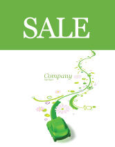 Nature & Environment: Green Car Sale Poster Template #04204