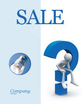 Consulting: Unsolved Issue Sale Poster Template #04213