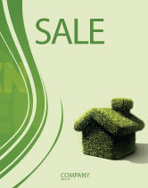 Nature & Environment: Green House Sale Poster Template #04215