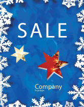 Holiday/Special Occasion: Winter Theme Sale Poster Template #04220