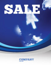 Technology, Science & Computers: Cursor Sale Poster Template #04225