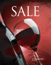Food & Beverage: Wine Glass Sale Poster Template #04235