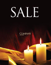 Religious/Spiritual: Candle Light Sale Poster Template #04239