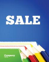 Education & Training: Color Pencils Lines Sale Poster Template #04251