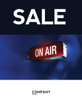Careers/Industry: Live Broadcast Sale Poster Template #04285