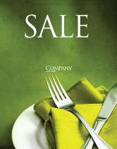 Careers/Industry: Flatware Sale Poster Template #04286