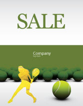 Sports: Tennis Balls Sale Poster Template #04296
