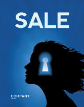 Consulting: Female Mind Sale Poster Template #04302
