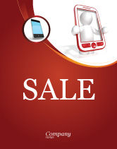 Telecommunication: Wireless Phones Sale Poster Template #04312