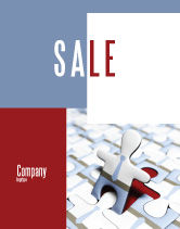 Business: Jigsaw Man Sale Poster Template #04332