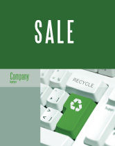 Nature & Environment: Recycling Technology Sale Poster Template #04339