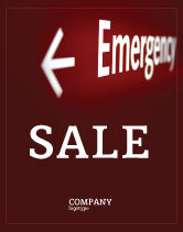 Business Concepts: Modelo de Cartaz - sinal de emergência #04341