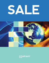 Business: Troubled World Sale Poster Template #04349