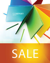 Business: Color Paper Sale Poster Template #04355