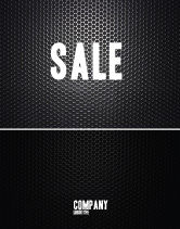 Abstract/Textures: Black Grid Sale Poster Template #04358