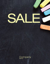 Education & Training: Chalk Sale Poster Template #04365