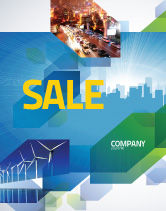 Business: City Scenery Sale Poster Template #04370