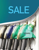 Careers/Industry: Gasoline Sale Poster Template #04391
