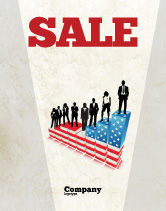 America: Social Hierarchy Sale Poster Template #04393