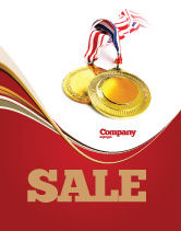 Sports: Medal Sale Poster Template #04414