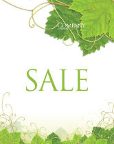 Nature & Environment: Grape Leaves Ornament Sale Poster Template #04421