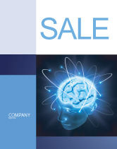Medical: Brain Waves Sale Poster Template #04437