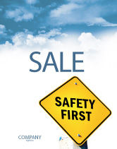 Careers/Industry: Safety First Sale Poster Template #04449