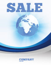 Global: Blue Globe Sale Poster Template #04456