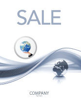 Global: World View Sale Poster Template #04472