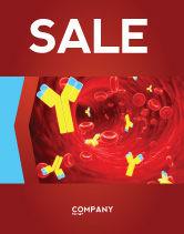 Medical: Antibodies Sale Poster Template #04490