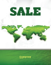 Nature & Environment: Green Grass of World Sale Poster Template #04500