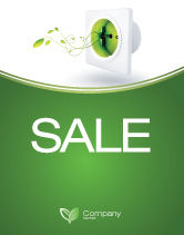 Careers/Industry: Green Socket Sale Poster Template #04502