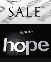 Religious/Spiritual: Hope Sale Poster Template #04503