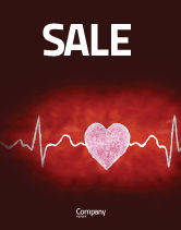 Medical: Heartbeat Sale Poster Template #04504