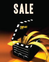 Careers/Industry: Movie Clapper Sale Poster Template #04505