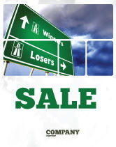 Consulting: Losers and Winners Sale Poster Template #04530