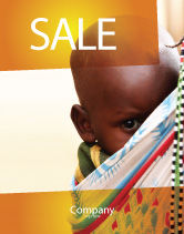 People: African Baby Sale Poster Template #04531