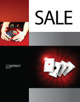 Careers/Industry: Aces Sale Poster Template #04536