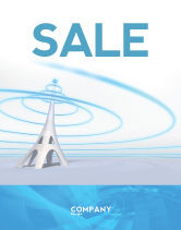 Telecommunication: Television Tower Sale Poster Template #04548