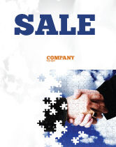 Business: Puzzle Of Partnership Sale Poster Template #04550