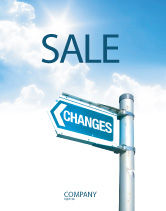 Financial/Accounting: Changes Sale Poster Template #04582